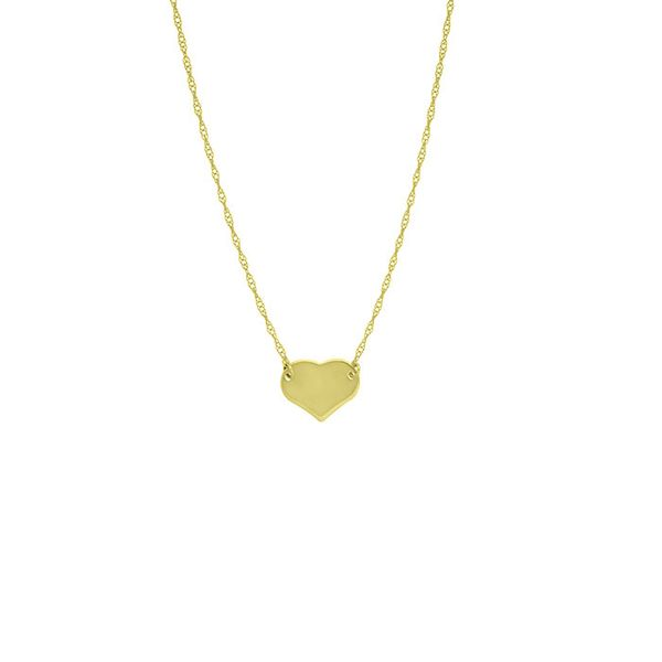 14K Yellow Gold Mini Heart Necklace Koerber's Fine Jewelry, Inc. New Albany, IN