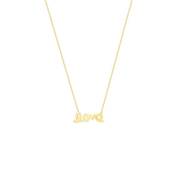 14K Yellow Gold Necklace With Mini Love Center Koerber's Fine Jewelry, Inc. New Albany, IN