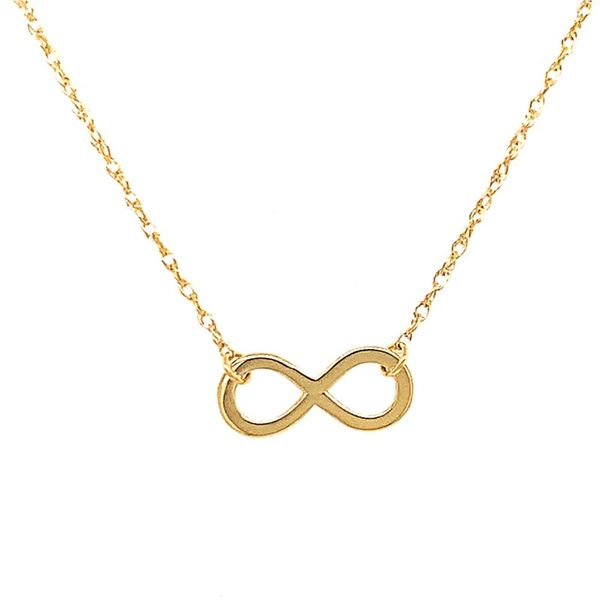 14K Yellow Gold Necklace with Mini Infinity Center Koerber's Fine Jewelry, Inc. New Albany, IN