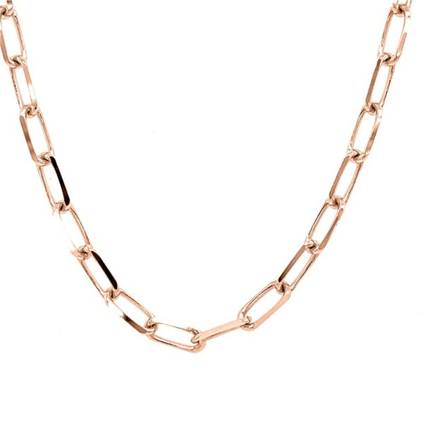 14K Rose Gold Diamond Cut Forzentina Chain Necklace Koerber's Fine Jewelry, Inc. New Albany, IN