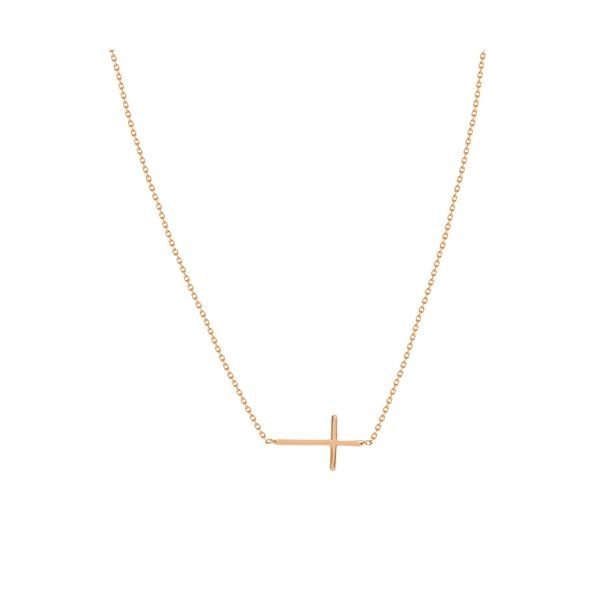 14K Rose Gold Mini Cross Necklac Koerber's Fine Jewelry, Inc. New Albany, IN