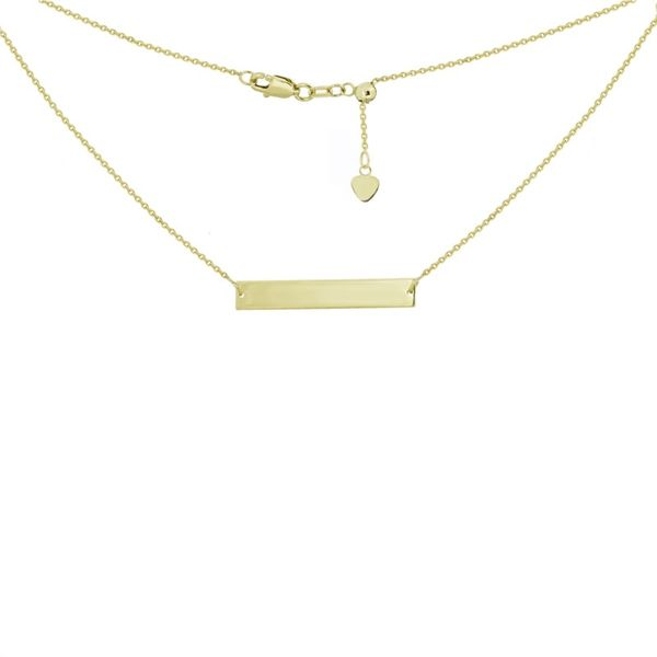14K Yellow Gold Name Plate Bar Necklace Koerber's Fine Jewelry, Inc. New Albany, IN
