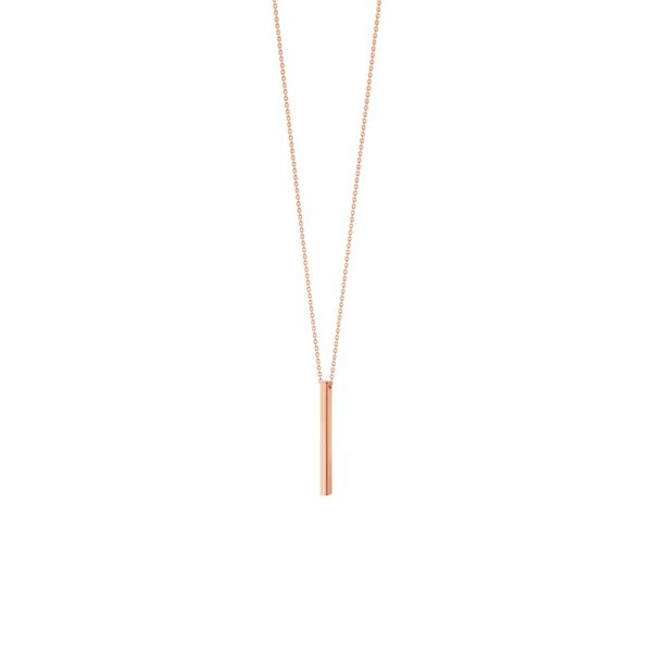 14K Rose Gold Square Wire Stick Adjustable Necklace Koerber's Fine Jewelry, Inc. New Albany, IN