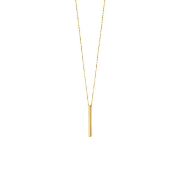 14K Yellow Gold Square Wire Stick Adjustable Necklace Koerber's Fine Jewelry, Inc. New Albany, IN