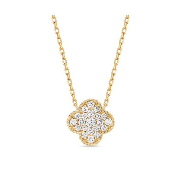 14K Yellow Gold Clover Necklace Koerber's Fine Jewelry, Inc. New Albany, IN