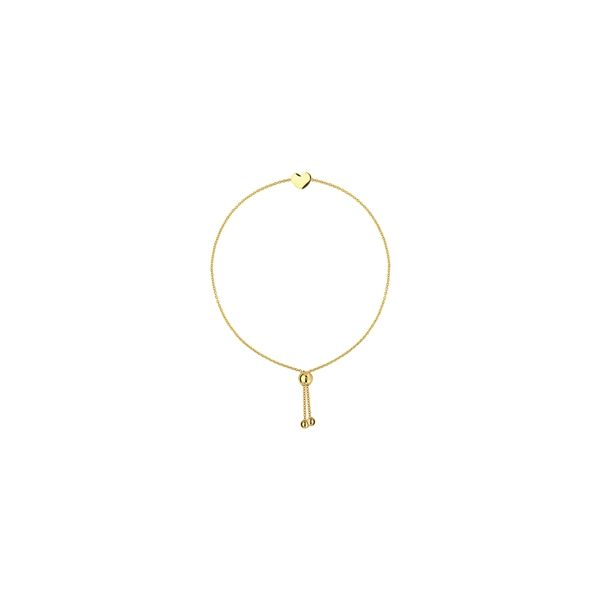 14K Yellow Gold Heart Center Adjustable Silicone Bead Bracelet Koerber's Fine Jewelry, Inc. New Albany, IN