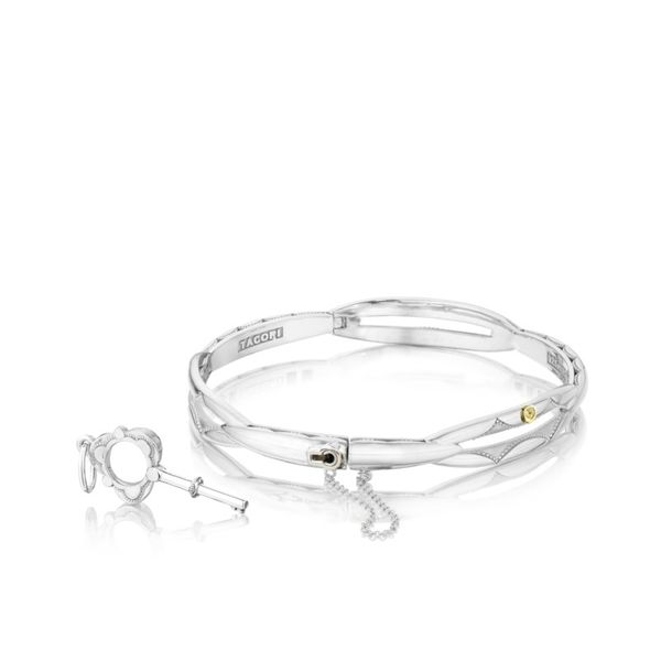Tacori 18K Yellow Gold and Sterling Silver Promise Bracelet Koerber's Fine Jewelry, Inc. New Albany, IN