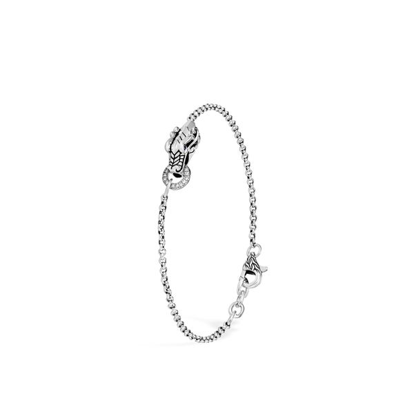 Sterling Silver Legends Naga Charm Bracelet with Diamonds Koerber's Fine Jewelry, Inc. New Albany, IN