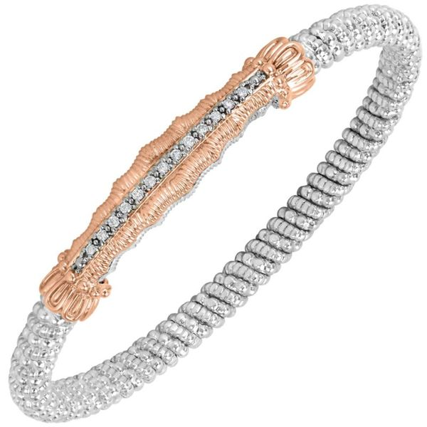 14K Rose Gold and Sterling Silver 4mm Closed Band Bracelet Koerber's Fine Jewelry, Inc. New Albany, IN