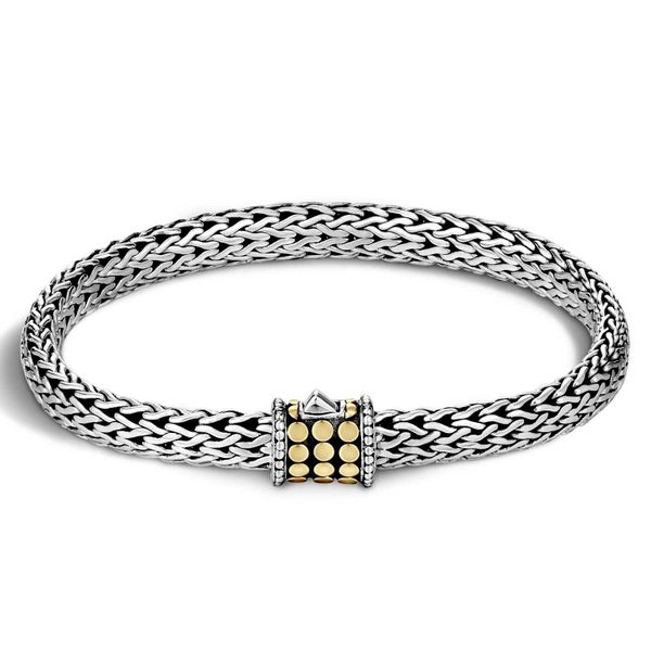 Sterling Silver and 18K Bonded Yellow Gold Dot 6.5mm Bracelet Koerber's Fine Jewelry, Inc. New Albany, IN