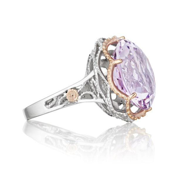 Tacori Round Rose Amethyst and Diamond Ring Image 2 Koerber's Fine Jewelry, Inc. New Albany, IN