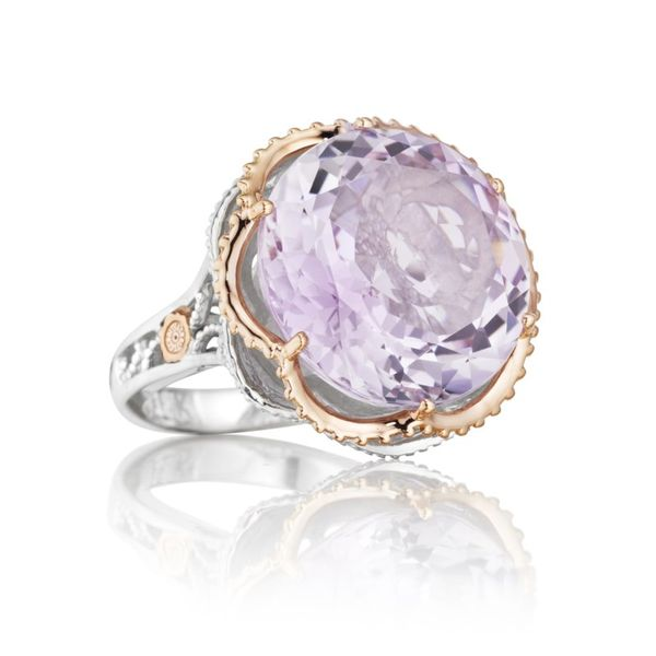 Tacori Round Rose Amethyst and Diamond Ring Koerber's Fine Jewelry, Inc. New Albany, IN