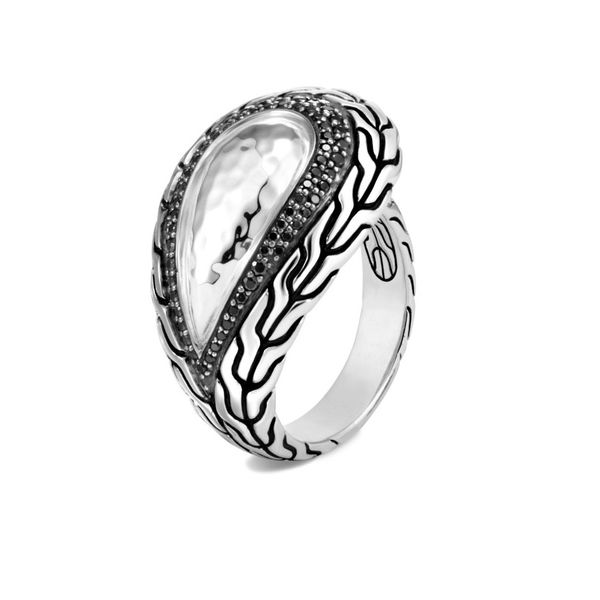 Sterling Silver Classic Chain Hammered Ring Image 2 Koerber's Fine Jewelry, Inc. New Albany, IN