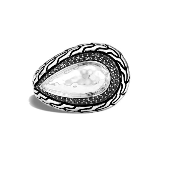 Sterling Silver Classic Chain Hammered Ring Koerber's Fine Jewelry, Inc. New Albany, IN