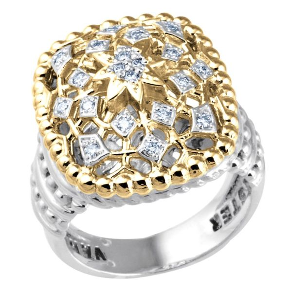 14K Yellow Gold & Sterling Silver Diamond Fashion Ring Koerber's Fine Jewelry, Inc. New Albany, IN