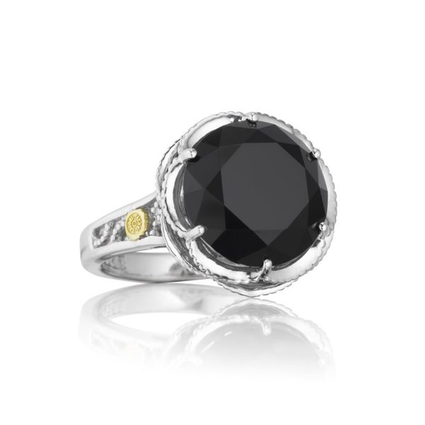 Sterling Silver Crescent Gem Ring featuring Black Onyx Koerber's Fine Jewelry, Inc. New Albany, IN