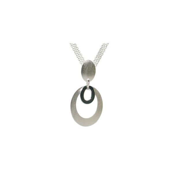 Sterling Silver Double Oval Drop Necklace Koerber's Fine Jewelry, Inc. New Albany, IN