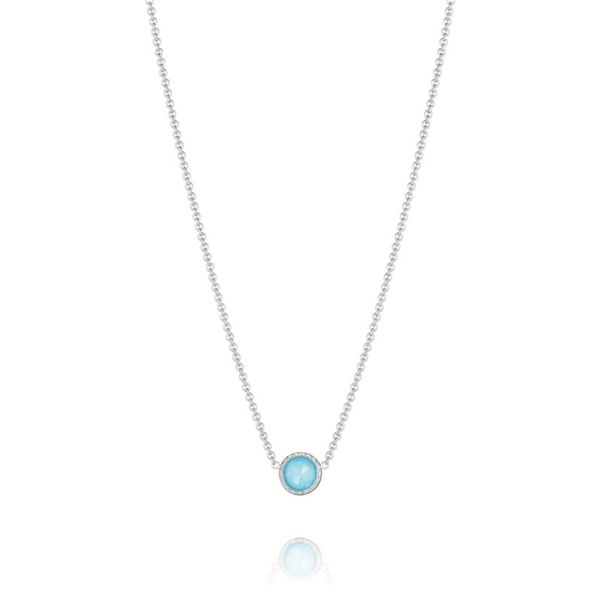Sterling Silver Petite Floating Bezel Necklace Koerber's Fine Jewelry, Inc. New Albany, IN