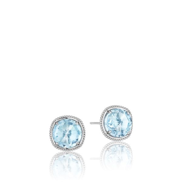 Tacori 10MM Blue Topaz Studs Koerber's Fine Jewelry, Inc. New Albany, IN