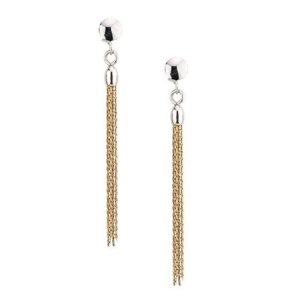 Sterling Silver and Yellow Plated Tassel Earrings Koerber's Fine Jewelry, Inc. New Albany, IN