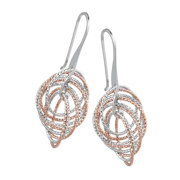 Sterling Silver Rose Finish Circle Twist Earring Koerber's Fine Jewelry, Inc. New Albany, IN