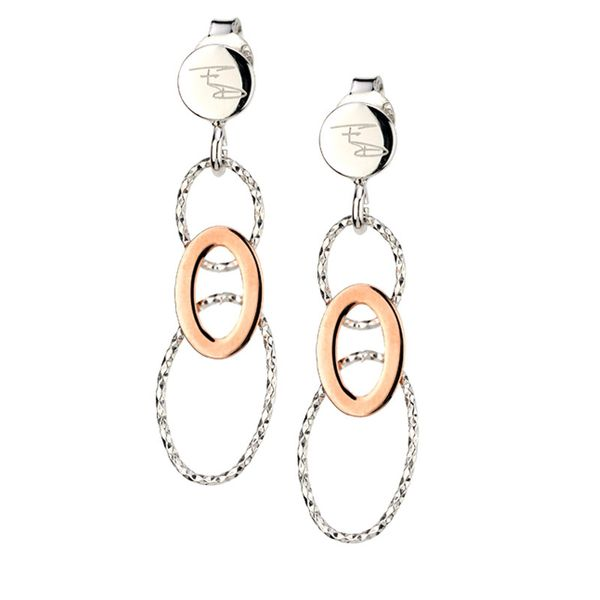Sterling Silver Rose Gold Plated Oval Dreams Earrings Koerber's Fine Jewelry, Inc. New Albany, IN