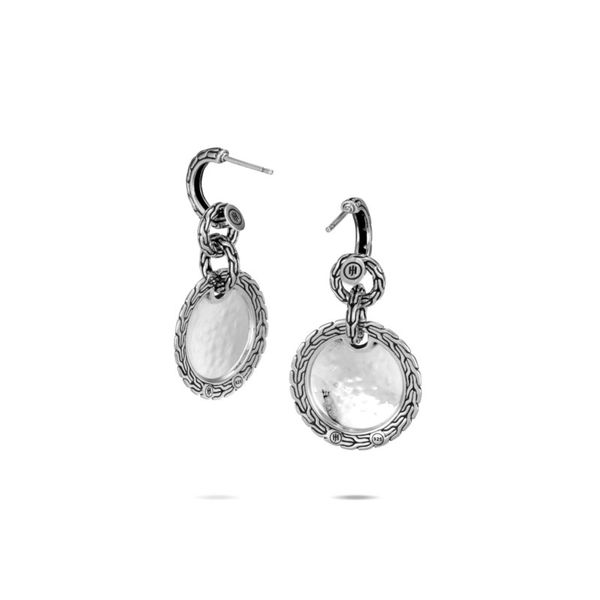 Sterling Silver Classic Chain Hammered Drop Earring Image 2 Koerber's Fine Jewelry, Inc. New Albany, IN