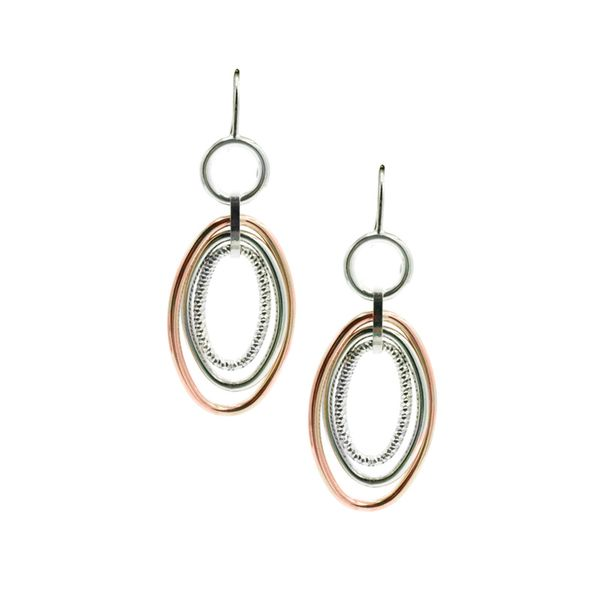 Sterling Silver and Rose Gold Plated Vanessa Earrings Koerber's Fine Jewelry, Inc. New Albany, IN