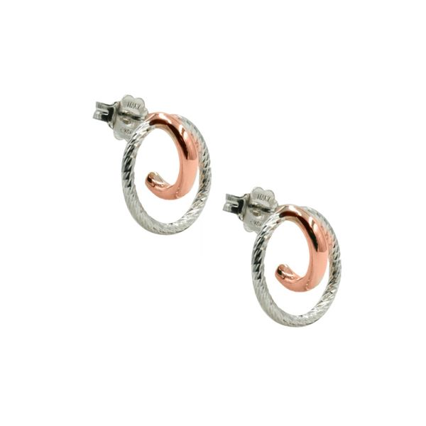 Sterling Silver Earrings and Rose Gold Plated Jana Earrings Koerber's Fine Jewelry, Inc. New Albany, IN