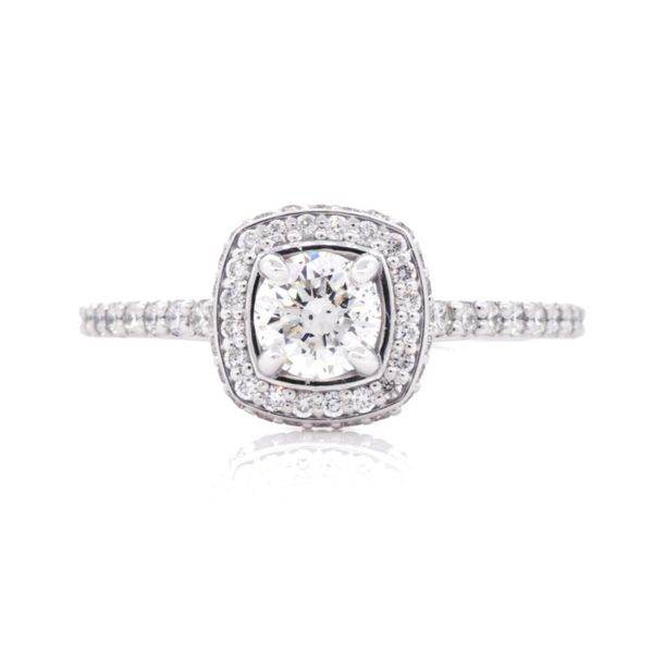 0.93 Carat Diamond Cathedral Halo Engagement Ring Koser Jewelers Mount Joy, PA