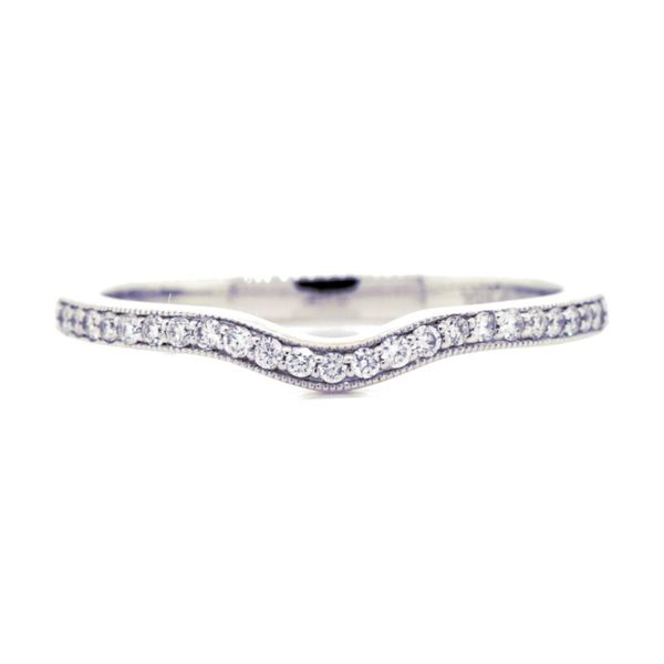 Milgrain Slight Curve Diamond Wedding Band Koser Jewelers Mount Joy, PA