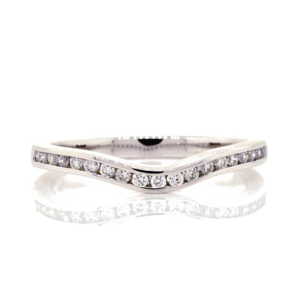 Channel Set Curved Diamond Wedding Ring Koser Jewelers Mount Joy, PA