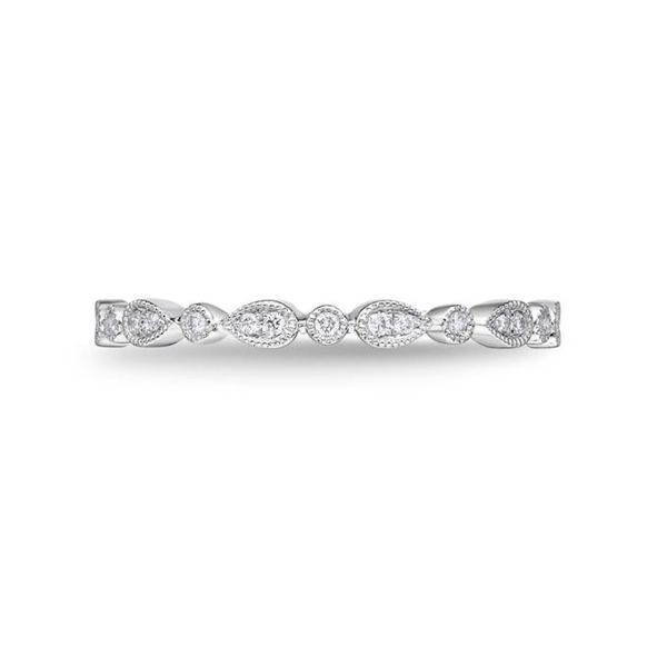 Memoire Vintage Round & Illusion Pear Diamond Stackable Band Koser Jewelers Mount Joy, PA