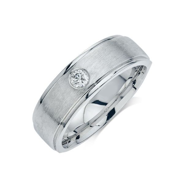 10K White Gold 0.15 Total Diamond Weight Men's Wedding Band Koser Jewelers Mount Joy, PA