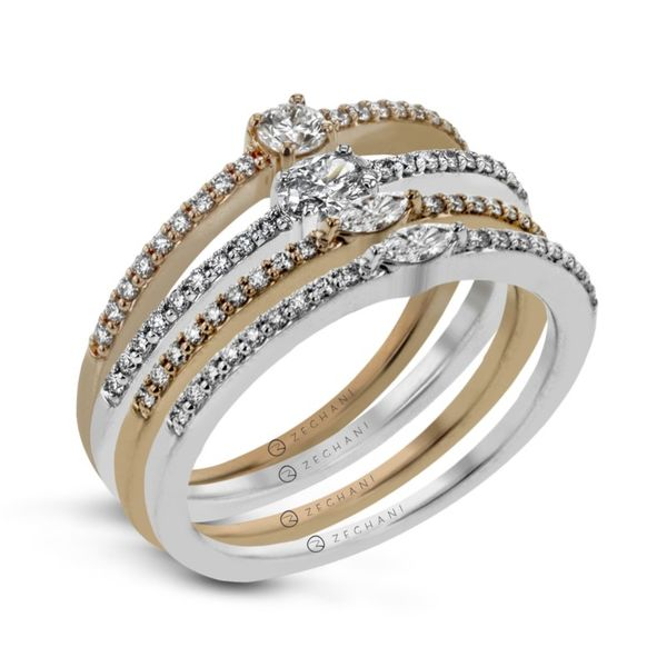 Zeghani Set of 4 Stackable Diamond Bands Koser Jewelers Mount Joy, PA