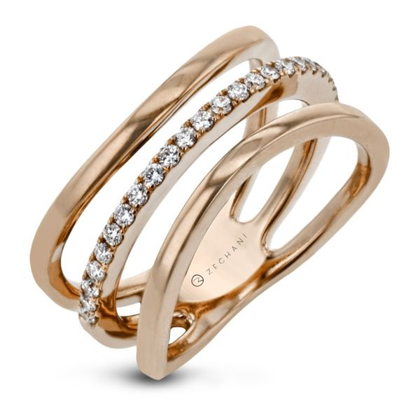 Zeghani Refined Rebel Curvy Triple Ring Koser Jewelers Mount Joy, PA