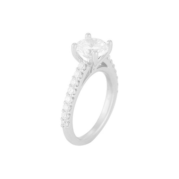 Diamond Solitaire Shared Prong Engagement Ring Mounting Koser Jewelers Mount Joy, PA