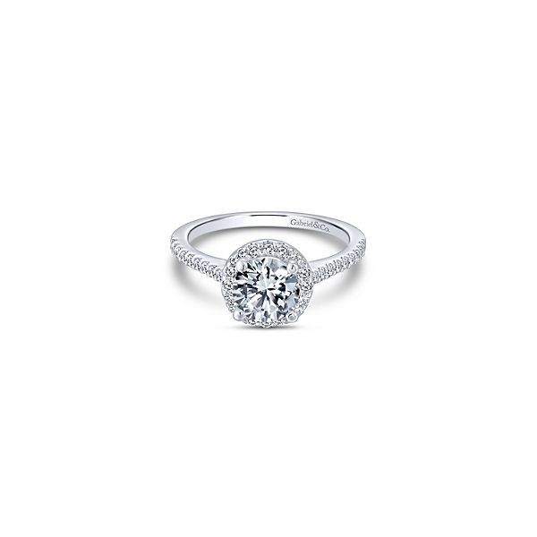 Gabriel & Co. Carly Classic Halo Engagement Ring Mounting Koser Jewelers Mount Joy, PA