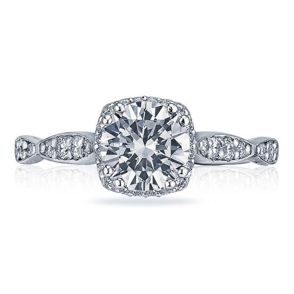Tacori Dantela Cushion Halo Engagement Ring Koser Jewelers Mount Joy, PA
