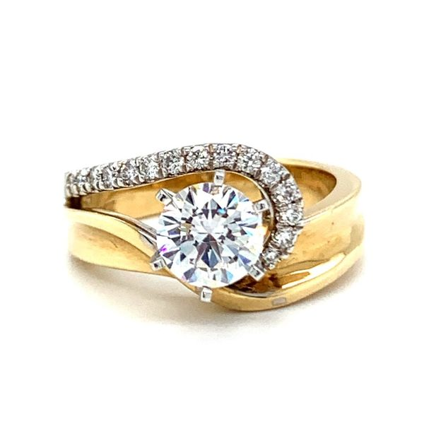 Modern Curvy Diamond Engagement Ring Koser Jewelers Mount Joy, PA