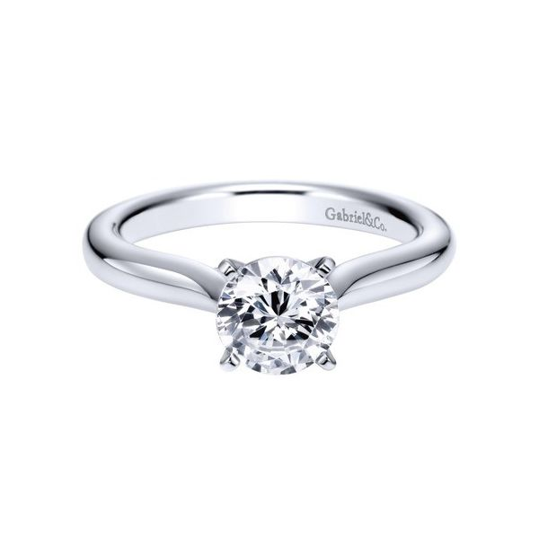 Gabriel & Co. Lauren Solitaire Engagement Ring Mounting Koser Jewelers Mount Joy, PA