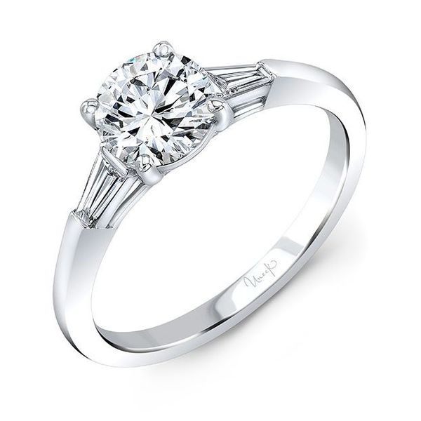 Tapered Baguette Diamond Engagement Ring Mounting Koser Jewelers Mount Joy, PA