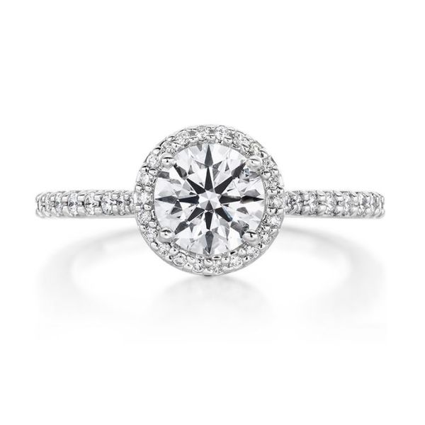 Hearts On Fire Camilla Halo Diamond Engagement Ring Mounting Koser Jewelers Mount Joy, PA