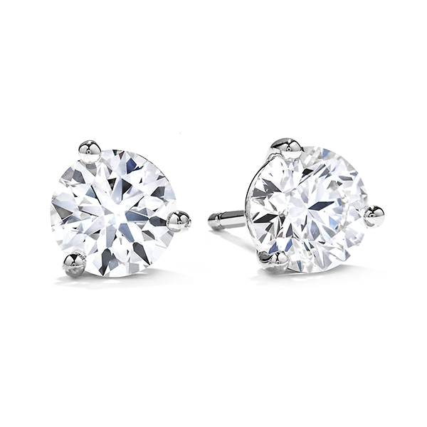 Hearts On Fire Three Prong Diamond Studs  3SIE00338W Koser Jewelers Mount Joy, PA