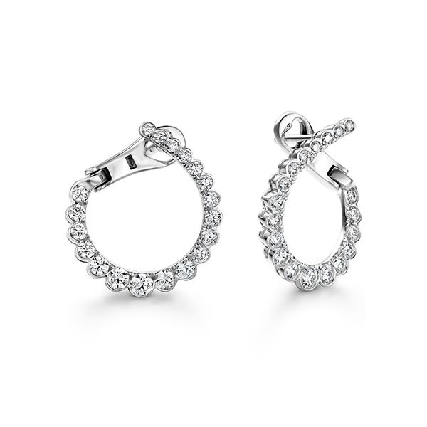 Hearts On Fire Small Aerial Regal Diamond Hoop Earrings Koser Jewelers Mount Joy, PA