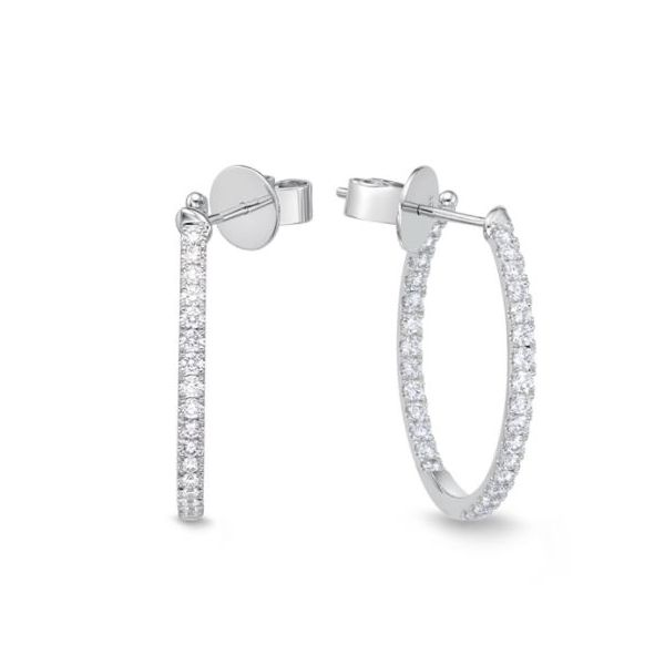 Memoire Classic Diamond Hoop Earrings Koser Jewelers Mount Joy, PA