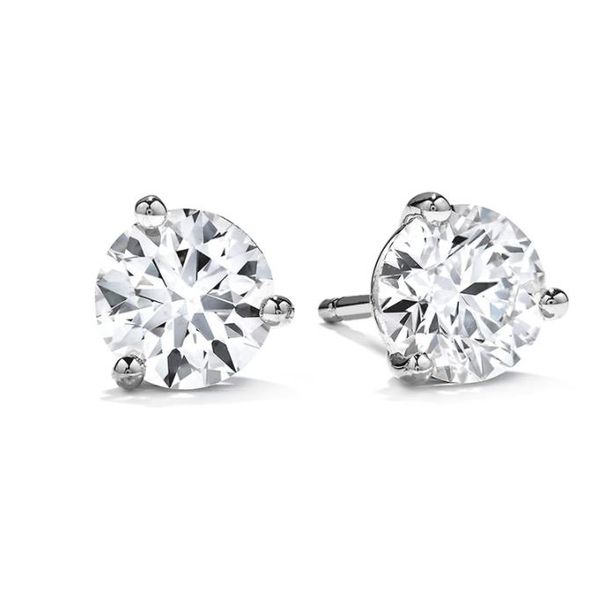 Memoire Three Prong Solitaire Stud Earrings Koser Jewelers Mount Joy, PA