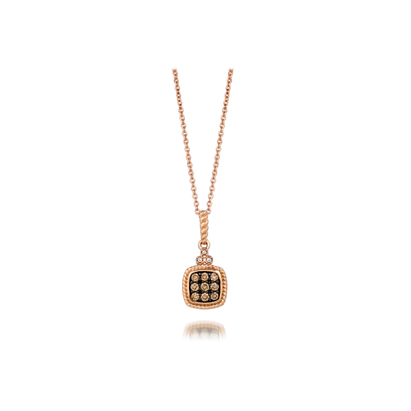 LeVian® Petite Chocolate & Diamond Pendant 14K Rose Gold Koser Jewelers Mount Joy, PA