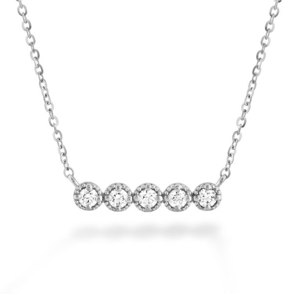 Hearts On Fire Liliana Milgrain Diamond Bar Necklace Koser Jewelers Mount Joy, PA