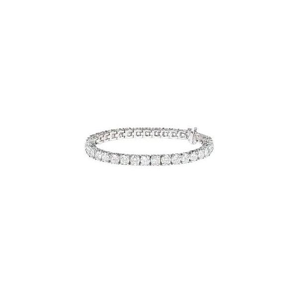 Diamond Tennis Bracelet With 37 Round Diamonds 12.45 Carat Total Diamond Weight Koser Jewelers Mount Joy, PA